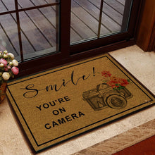 Load image into Gallery viewer, Smile! You're On Nikon Camera Doormat