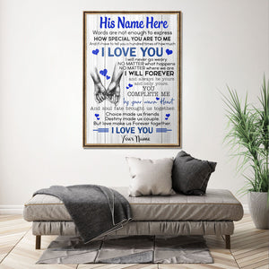 DNQK How Special You Are To Me Custom Canvas