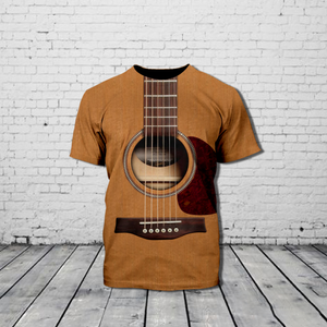 TR-DH Standard Printed Allover 3D Combo Shirt - Every Tall Girl Needs A Guitar