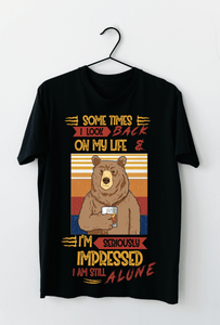 MC-DH Standard Printed  2D Shirt - Sometimes I Look Back On My Life
