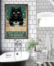 Load image into Gallery viewer, TT-HA Wall Decor Canvas - Naked Black Cat