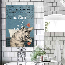 Load image into Gallery viewer, Black Cat Today Is A Good Day Wall Decor Canvas