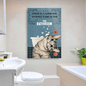 Black Cat Today Is A Good Day Wall Decor Canvas
