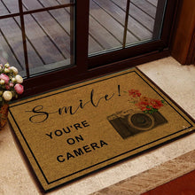 Load image into Gallery viewer, Smile! You're On Camera Doormat