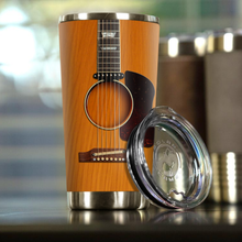 Load image into Gallery viewer, H-LK Design Vacuum Insulated Tumbler - Brown Acoustic Guitar