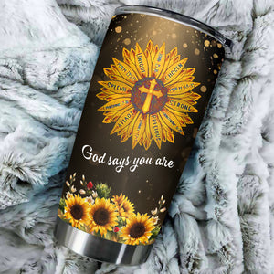 TT-HA Design Vacuum Insulated Tumbler - Faith Sunflower
