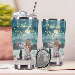 TT-HA Design Vacuum Insulated Tumbler - I Love You To The Moon And Back