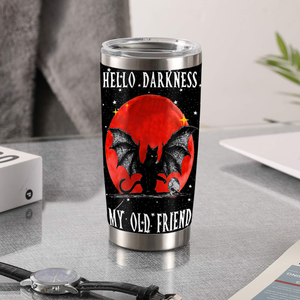 TT-TN Design Vacuum Insulated Tumbler - Hello Darkness My Old Friend