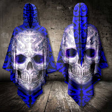 Load image into Gallery viewer, Skull Blue Tattoo AllOver Unisex Cloak