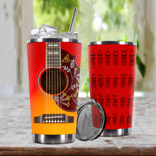 Load image into Gallery viewer, TR-DM Design Vacuum Insulated Tumbler - G.D Guitar Humming Bird