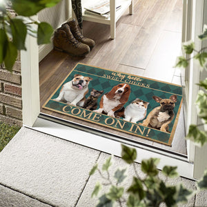 Group 5 Dogs And Cats Come On In Doormat