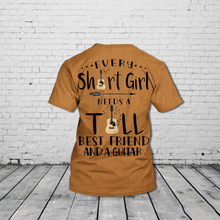 Load image into Gallery viewer, TR-DH Standard Printed Allover 3D Combo Shirt - Every Tall Girl Needs A Guitar