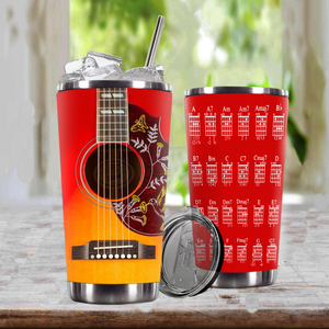 TR-DM Design Vacuum Insulated Tumbler - G.D Guitar Humming Bird
