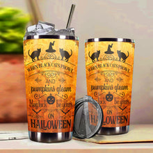 Load image into Gallery viewer, TT-HA Design Vacuum Insulated Tumbler - Halloween With Black Cat Orange