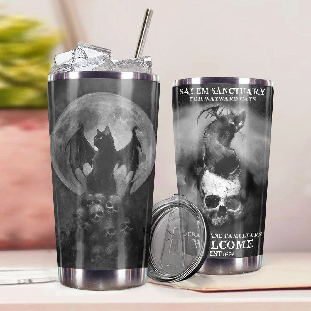 TT-HA Design Vacuum Insulated Tumbler - Black Dracula Cat