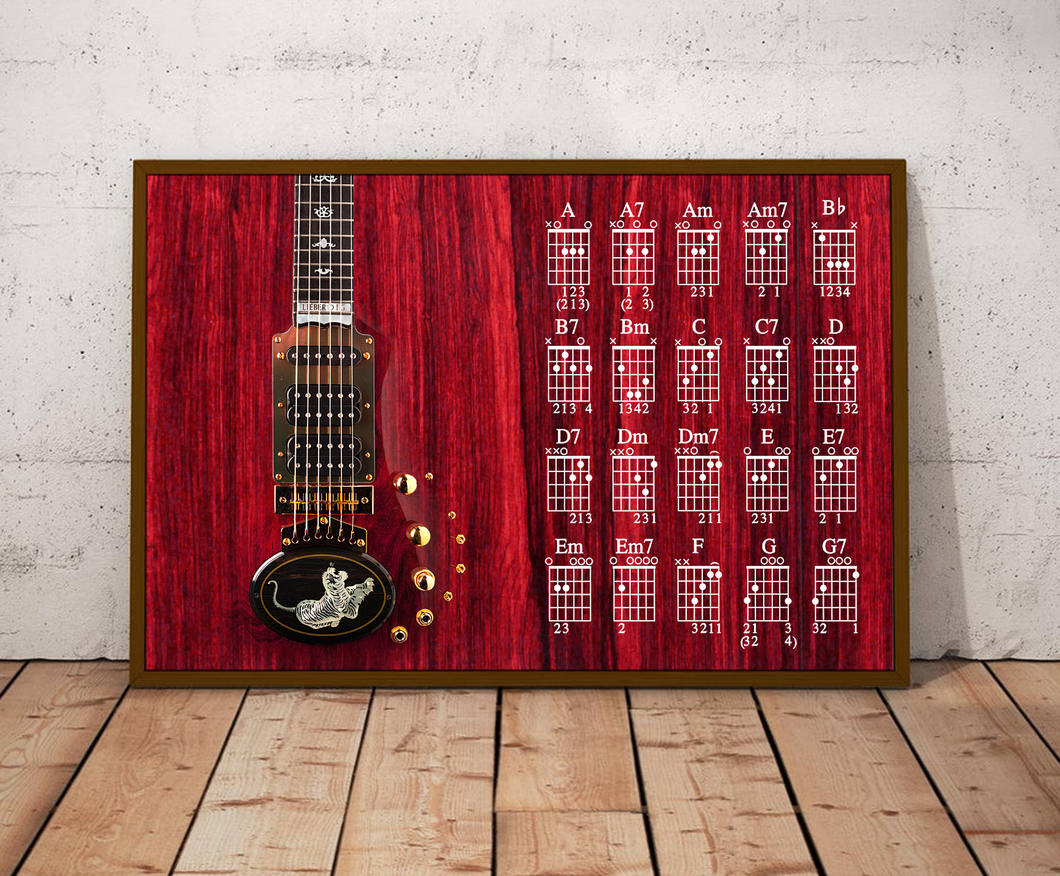 H-LK Horizontal Printed Canvas - Red Tiger Guitar