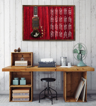 Load image into Gallery viewer, H-LK Horizontal Printed Canvas - Red Tiger Guitar