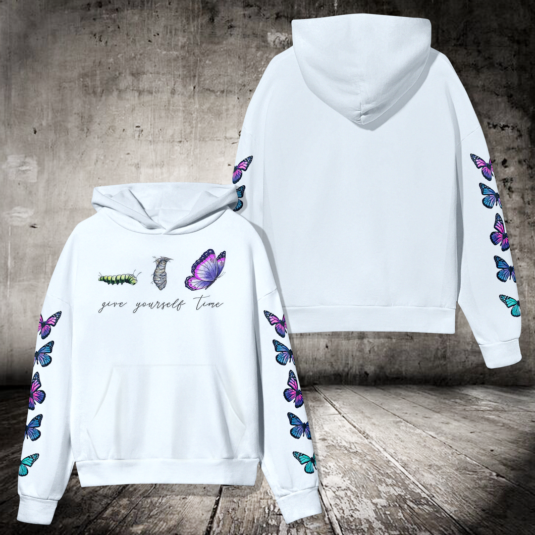 SP-LK Standard Printed Allover Hoodie - Give Yourself Time Butterfly
