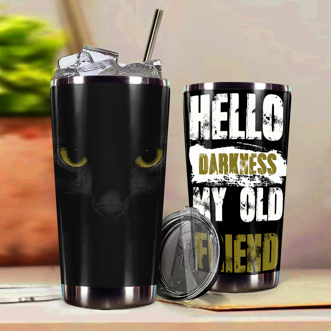 TT-HA Design Vacuum Insulated Tumbler - Hello Darkness My Old Friend