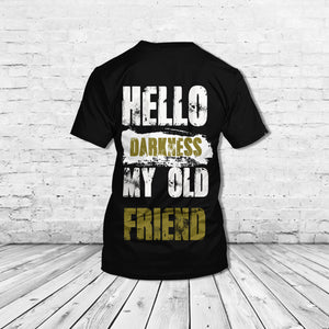 TT-HA Standard Printed Combo Allover T-Shirt - Hello Darkness My Old Friend
