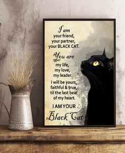 TT-HA Vertical Printed Canvas - I'm Your Black Cat