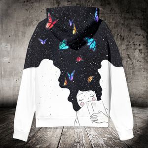 SP-LK Standard Printed Allover Hoodie - Just A Girl Who Loves Butterfly