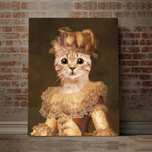 Load image into Gallery viewer, Custom Pet Portrait Printed Canvas - Cat And Crown