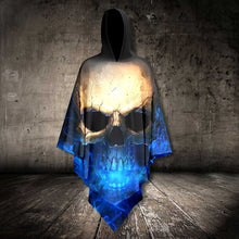 Load image into Gallery viewer, Blue Light Skull 3D AllOver Unisex Cloak