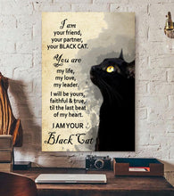 Load image into Gallery viewer, TT-HA Vertical Printed Canvas - I'm Your Black Cat