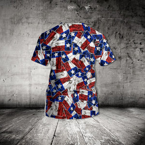MC-DD Standard Printed Allover 3D Hawaii Shirt - TX Pattern
