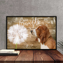 Load image into Gallery viewer, Basset Hound Just Breath Canvas
