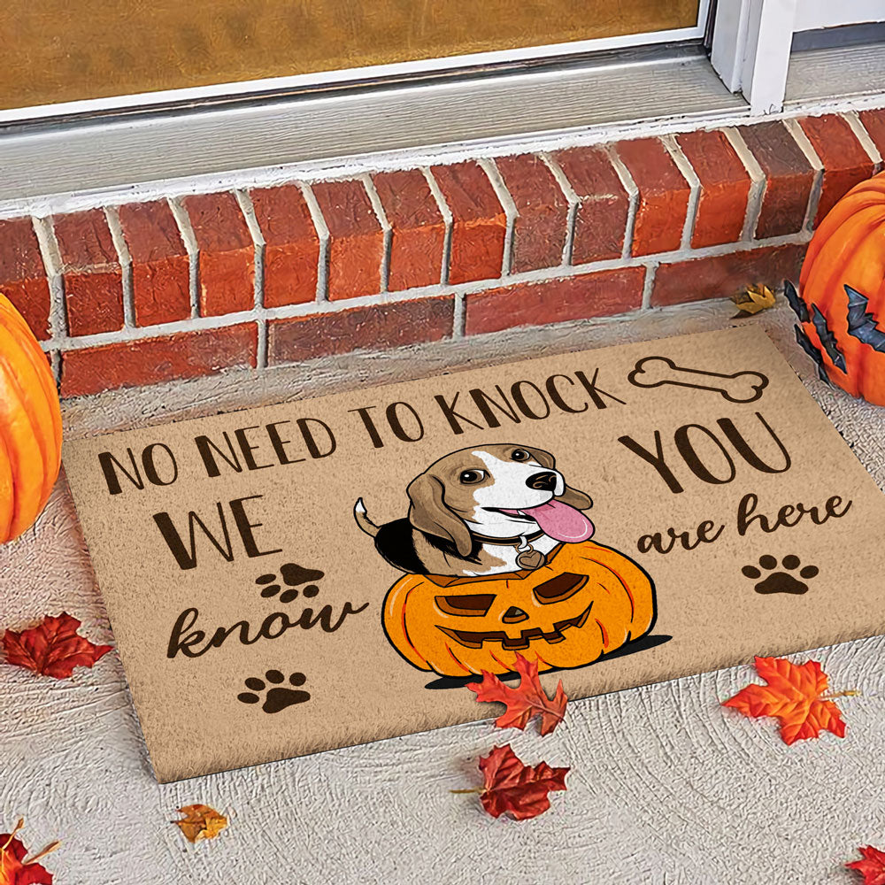 Beagle Halloween Dog Doormat