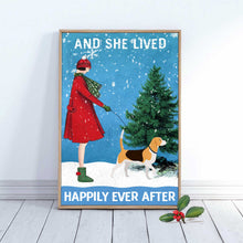 Load image into Gallery viewer, Beagle Dog Happily Ever After Canvas