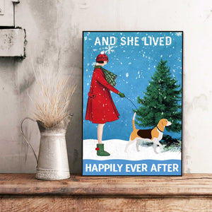 Beagle Dog Happily Ever After Canvas
