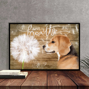 Beagle Just Breath Canvas
