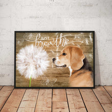 Load image into Gallery viewer, Beagle Just Breath Canvas