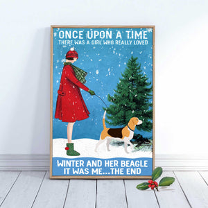 Beagle Winter Dog Canvas