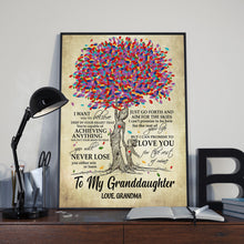 Load image into Gallery viewer, Blooming Family Tree Granddaughter Canvas