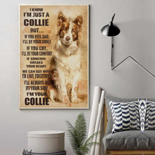 Load image into Gallery viewer, Border Collie Old Paper Canvas