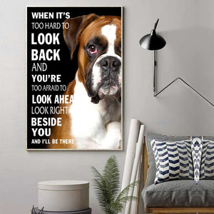 Boxer Beside You Canvas