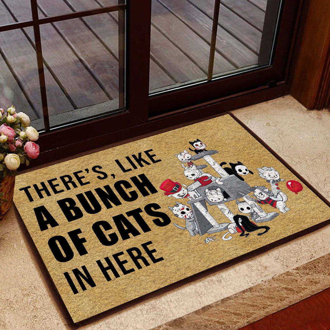 A Bunch Of Cats Doormat