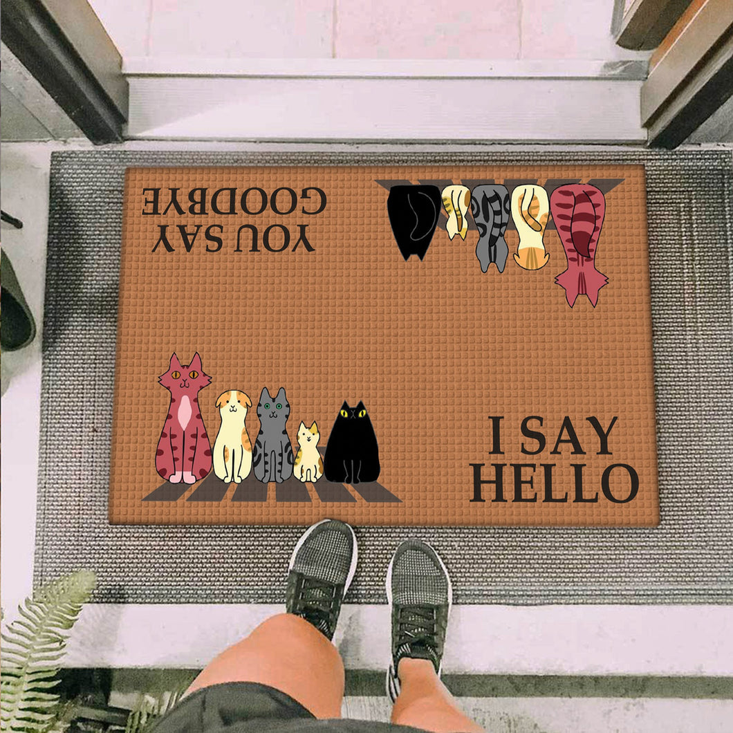 A Group Of Cats Doormat