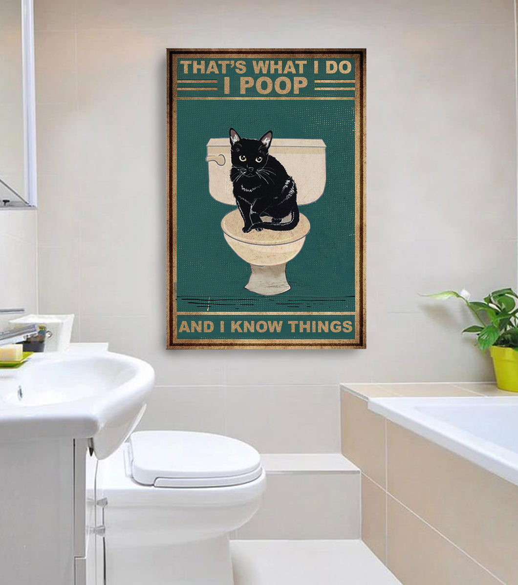 Wall Decor Canvas - Smart Cat