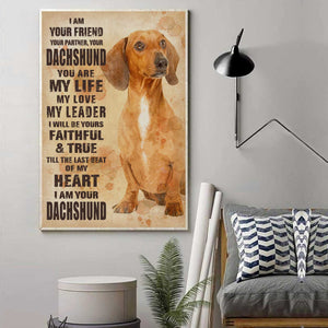 Dachshund Your Friend Canvas