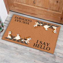 Load image into Gallery viewer, Hello Goodbye Beagle Doormat