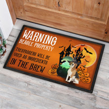 Load image into Gallery viewer, Warning Dogs Beagle Doormat