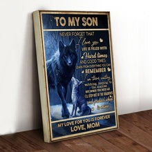 Load image into Gallery viewer, Family Night Wolf Son Canvas