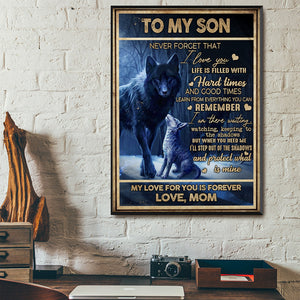 Family Night Wolf Son Canvas