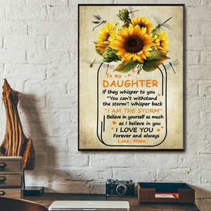 Family Sunflower Jar Daughter Canvas