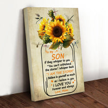 Load image into Gallery viewer, Family Sunflower Jar Son Canvas